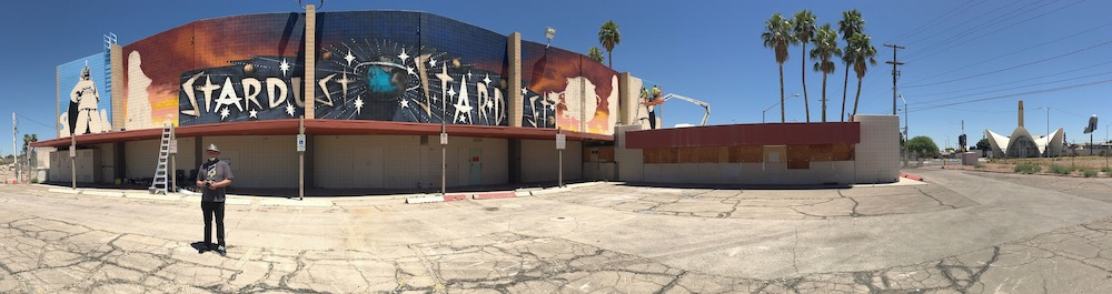 James Stanford, From the Land Beyond Beyond, Mural Installation, The Neon Museum