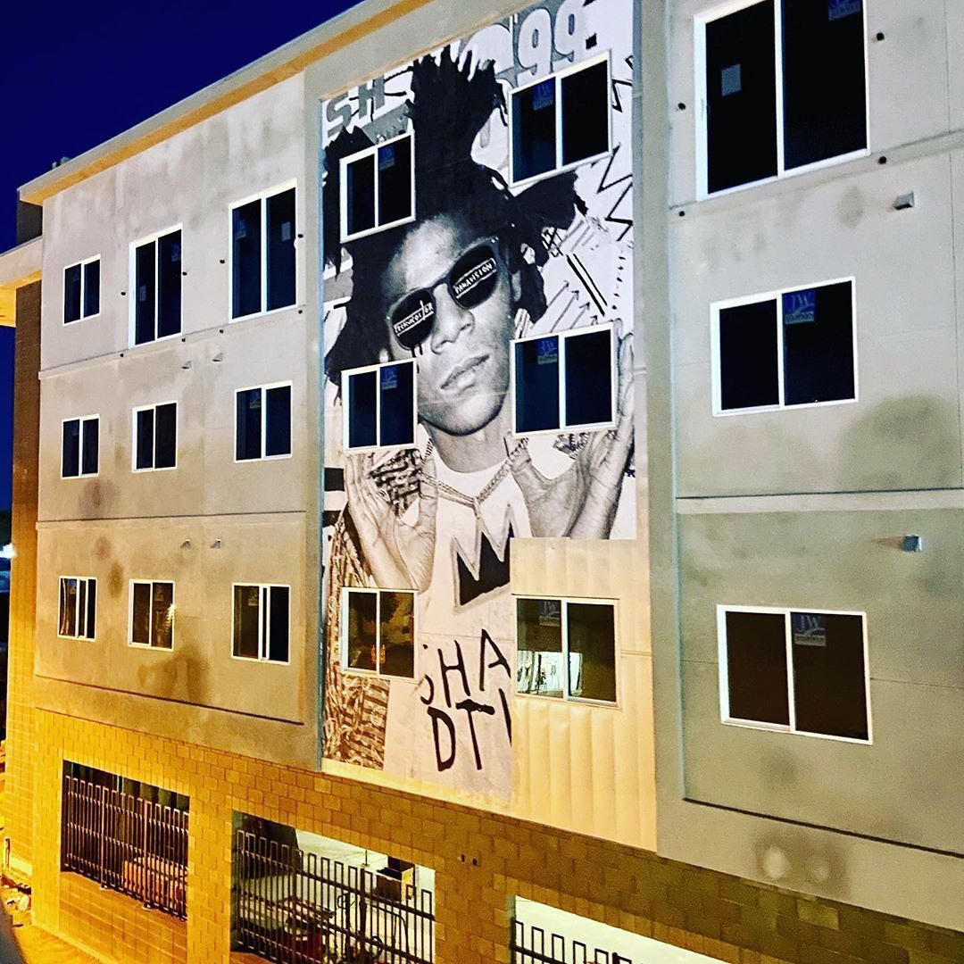 Basquiat mural by SNIPT of The Wall Saints at ShareDowntown